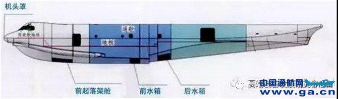 机身的船体结构大量采用机械加工一体成形工艺制造,有效地减少了铆接